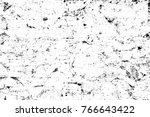 grunge black and white pattern. ... | Shutterstock . vector #766643422