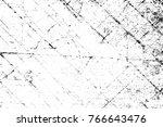 grunge black and white pattern. ... | Shutterstock . vector #766643476