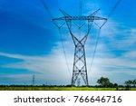 electric power line   hight... | Shutterstock . vector #766646716