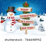 new year and christmas... | Shutterstock .eps vector #766648942