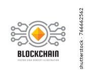 blockchain   concept logo... | Shutterstock .eps vector #766662562
