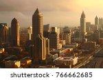 Atlanta s golden sunset