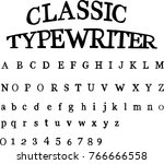 classic typewriter font | Shutterstock .eps vector #766666558
