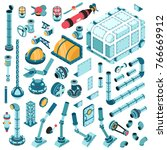 isometric spare parts for the... | Shutterstock .eps vector #766669912