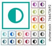 contrast control flat color...   Shutterstock .eps vector #766673692