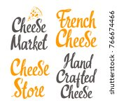 hand crafted cheese. vector... | Shutterstock .eps vector #766674466