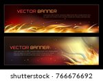 illustration of set of fire... | Shutterstock .eps vector #766676692