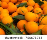 clementines on a market | Shutterstock . vector #766678765