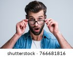 omg  portrait of handsome young ... | Shutterstock . vector #766681816