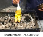 a delicious roast chicken bbq... | Shutterstock . vector #766681912