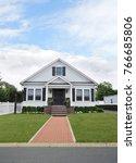white suburban bungalow home...   Shutterstock . vector #766685806