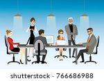illustration of coworking... | Shutterstock . vector #766686988