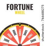 fortune wheel in flat style.... | Shutterstock .eps vector #766688275