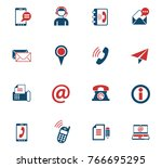 contact us vector icons for web ... | Shutterstock .eps vector #766695295