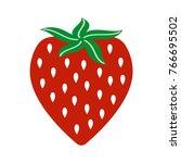 strawberry fruit vector icon | Shutterstock .eps vector #766695502