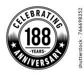 188 years anniversary logo... | Shutterstock .eps vector #766698352