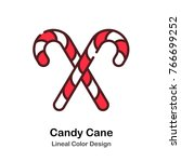 cross candy cane lineal color...   Shutterstock .eps vector #766699252