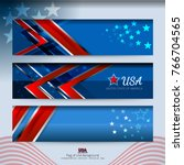 flag of usa background for... | Shutterstock .eps vector #766704565
