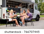 leisure and people concept  ... | Shutterstock . vector #766707445