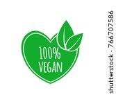 vegan food icon. vector... | Shutterstock .eps vector #766707586