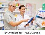 medicine  pharmaceutics ... | Shutterstock . vector #766708456