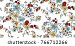 seamless floral pattern in... | Shutterstock .eps vector #766712266