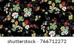 seamless floral pattern in... | Shutterstock .eps vector #766712272