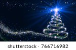 shining christmas tree | Shutterstock . vector #766716982