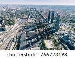 cityscape skyline view of madrid | Shutterstock . vector #766723198