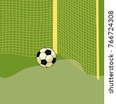 soccer in the gate  vector...
