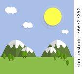 cartoon flat illustration  ... | Shutterstock .eps vector #766727392