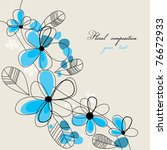floral composition with space... | Shutterstock .eps vector #76672933