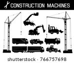 construction equipment  trucks  ... | Shutterstock .eps vector #766757698