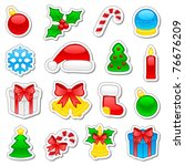 Set of Christmas icons, illustration - stock vector