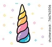 Unicorn Horn Rainbow Pastel...