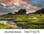 tanah lot is a rock formation... | Shutterstock . vector #766771675