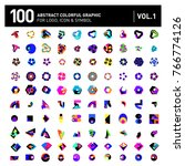 logo and icon mega collection.... | Shutterstock .eps vector #766774126