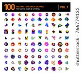 logo and icon mega collection.... | Shutterstock .eps vector #766774132