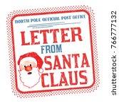 letters from santa grunge... | Shutterstock .eps vector #766777132