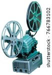 a movie projector is an opto...   Shutterstock . vector #766783102