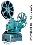 a movie projector is an opto... | Shutterstock . vector #766783108