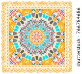 decorative colorful ornament on ...   Shutterstock .eps vector #766784686