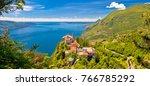 madonna di montecastello... | Shutterstock . vector #766785292