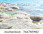 dead sea salt natural mineral... | Shutterstock . vector #766785982
