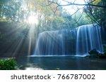 nabegataki water fall  ...   Shutterstock . vector #766787002