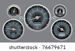 vector illustration car instrument panel eps10 - stock vector
