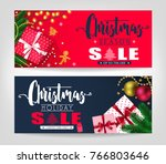christmas season and holiday... | Shutterstock .eps vector #766803646