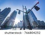 morning business district  | Shutterstock . vector #766804252