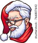 hipster santa claus. vector... | Shutterstock .eps vector #766807642