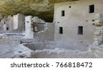 ancient cliff dwellings at mesa ... | Shutterstock . vector #766818472
